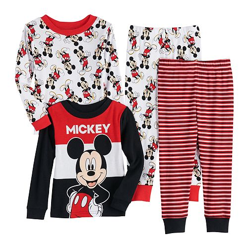 Toddler Boy Mickey Mouse Cotton Tops & Bottoms Pajamas Set (Set of 2)