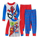 Toddler Boy Spiderman Cotton Tops & Bottoms Pajamas Set (Set of 2)