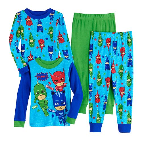 Toddler Boy PJ Masks Cotton Tops & Bottoms Pajamas Set (Set of 2)