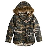 Girl's 4-20 SO® Fur Lined Anorak Jacket