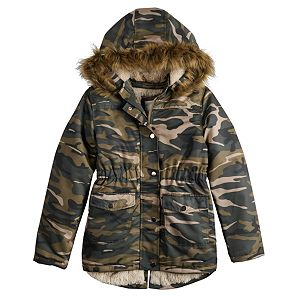 Girl's 4-20 SO Faux Fur Lined Anorak Jacket