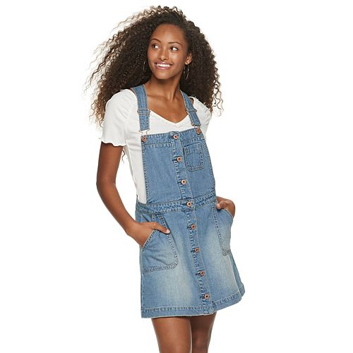 Juniors' American Rag Button Up Denim Skirtall
