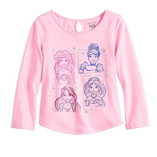 Disney Princesses Toddler Girl Glittery Graphic Tee by Jumping Beans®