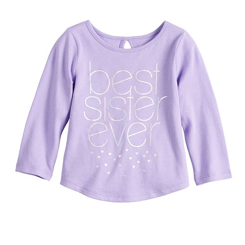Baby Girl Jumping Beans® Graphic Shirttail-Hem Tee