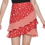 Juniors' Candie's® Ruffled Skirt With Elastic Back