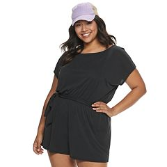 Juniors' Mudd® Slouchy Belted Romper