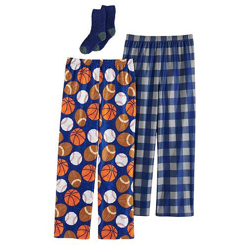 Boys 4-16 Up-Late 2-Pack Lounge Pants & Sock Set
