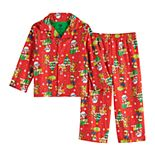 Toddler Boy Paw Patrol Holiday Top & Bottom Pajama Set