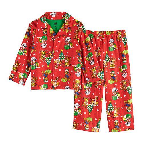 Toddler Boy Paw Patrol Holiday Top & Bottom Pajama Set