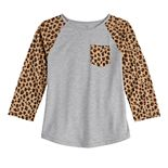 Girls SO® 3/4 Sleeve Raglan With Chest Pocket