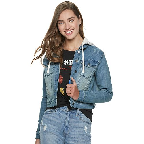 Juniors' Queen Denim Hoodie
