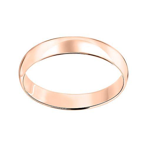 10k White Gold 4 mm Polished Dome Wedding Band