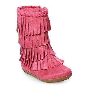 Jumping Beans® Pecan Toddler Girls' Fringe Boots