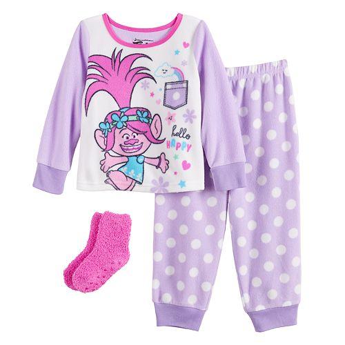 Toddler Girl Dreamworks Trolls 3-Piece Pajama Set