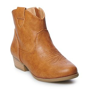 SO® Katie Girls' Western Ankle Boots