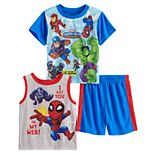 Toddler Boy Marvel Super Hero Tops & Shorts Pajama Set