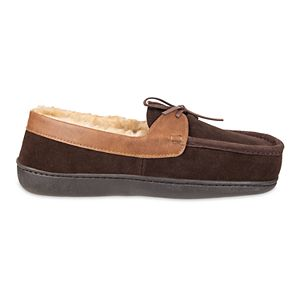 Men's Chaps Genuine Suede Moccasin Slippers