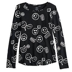Girls 7-16 & Plus Size SO® Long Sleeve Core Tee