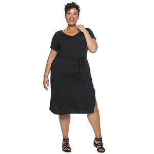 Plus Size EVRI Wrap Midi Dress