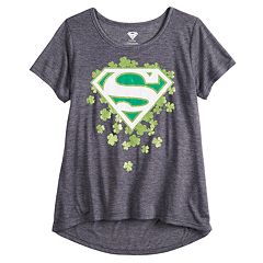 Girls' 7-16 & Plus Size Superman St. Patrick's Day Graphic Tee