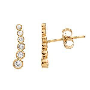 8b9feb975 Sale. $90.00. Regular. $225.00. 14k Gold Graduated Cubic Zirconia Ear  Climber Earrings