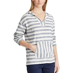 Women's Chaps Striped French Terry Hooded Top