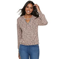 Women's Juicy Couture Marled Cutout Hoodie