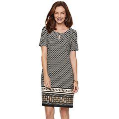 Women's Dana Buchman Print Keyhole Sheath Dress