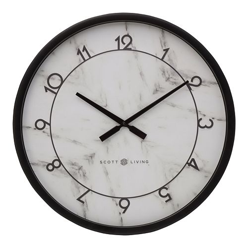 Scott Living Faux Marble Wall Clock by Scott Living