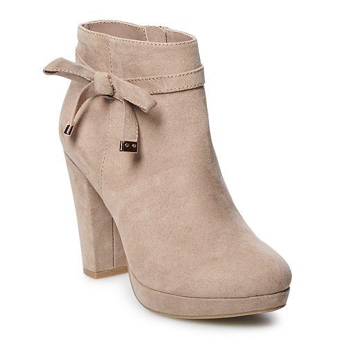 LC Lauren Conrad Leche Women's Ankle Boots