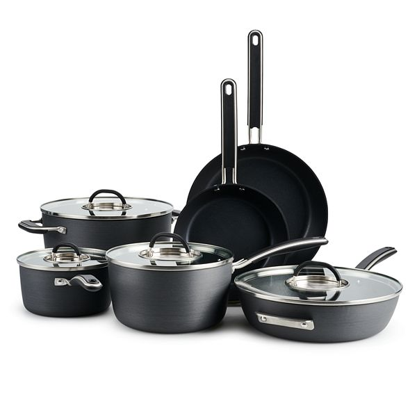 Food Network™ 10-pc. Hard-Anodized Nonstick Cookware Set - Gray