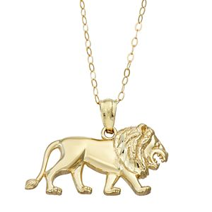 10k Gold Lion Charm