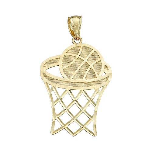 10K Yellow Gold Basketball Charm