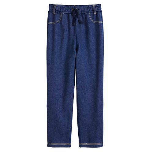 Toddler Boy Jumping Beans® Adaptive French Terry Denim Pants