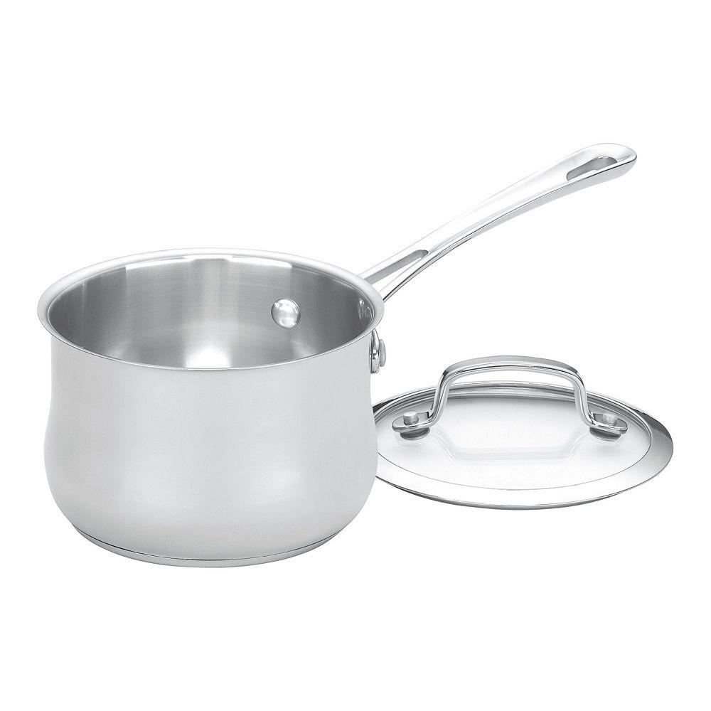 Cuisinart Contour Stainless Steel 1-qt. Saucepan