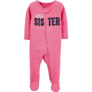 Baby Girl Carter's Little Sister 2-Way Zip Cotton Sleep & Play