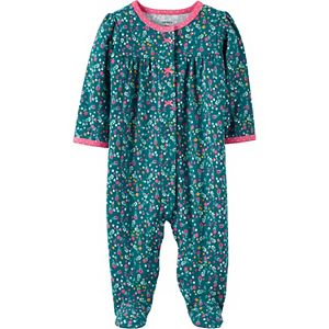 Baby Girl Carter's Floral Snap-Up Cotton Sleep & Play