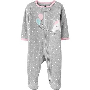 Baby Girl Carter's Unicorn 2-Way Zip Cotton Sleep & Play