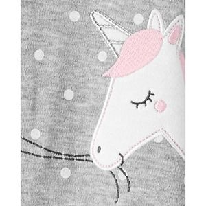 Baby Girl Carter's Unicorn 2-Way Zip Cotton Sleep & Play