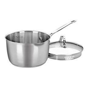 Cuisinart Chef's Classic Stainless Steel 3-qt. Pour Saucepan with Straining Cover