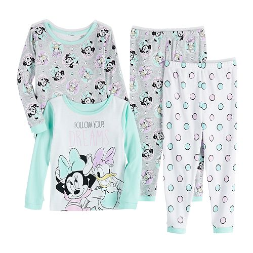 Toddler Girl's Disney's Minnie Mouse Top & Bottom Pajama Set