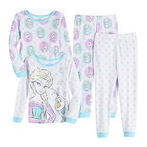 Toddler Girl's Disney's Frozen Elsa Top & Bottom Pajama Set