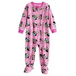 Disney's Minnie Mouse Toddler Girl Fleece Blanket Sleeper One-Piece Pajama