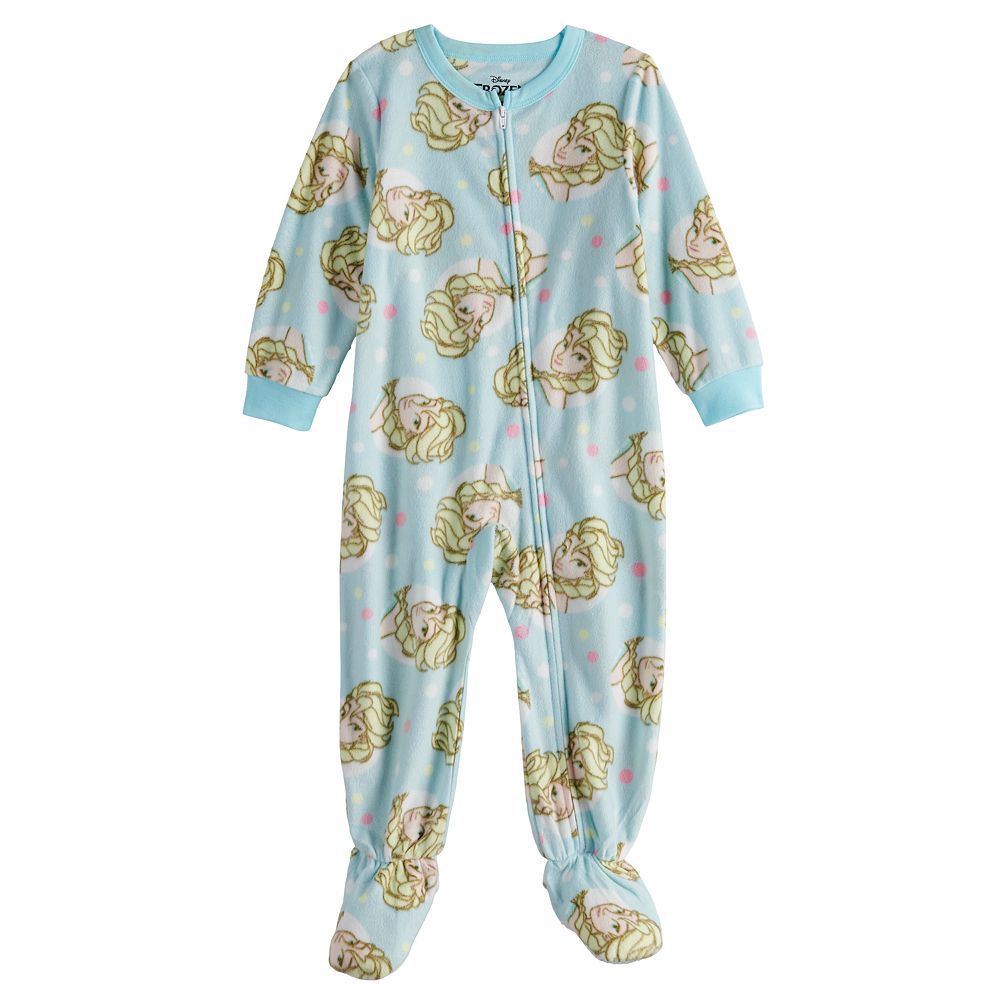 Disney's Frozen Elsa Toddler Girl Fleece Footed Pajamas