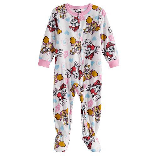 Toddler Girl Paw Patrol Fleece Footed Pajamas