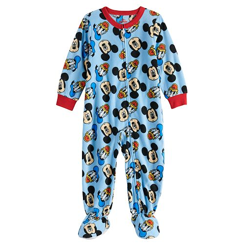 Disney's Mickey Mouse Toddler Boy Fleece Footed Pajamas