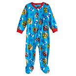 Toddler Boy Paw Patrol Fleece Footed Pajamas