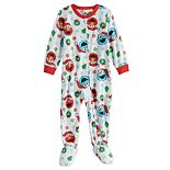 Toddler Boy Sesame Street Elmo & Cookie Monster Fleece Footed Pajamas