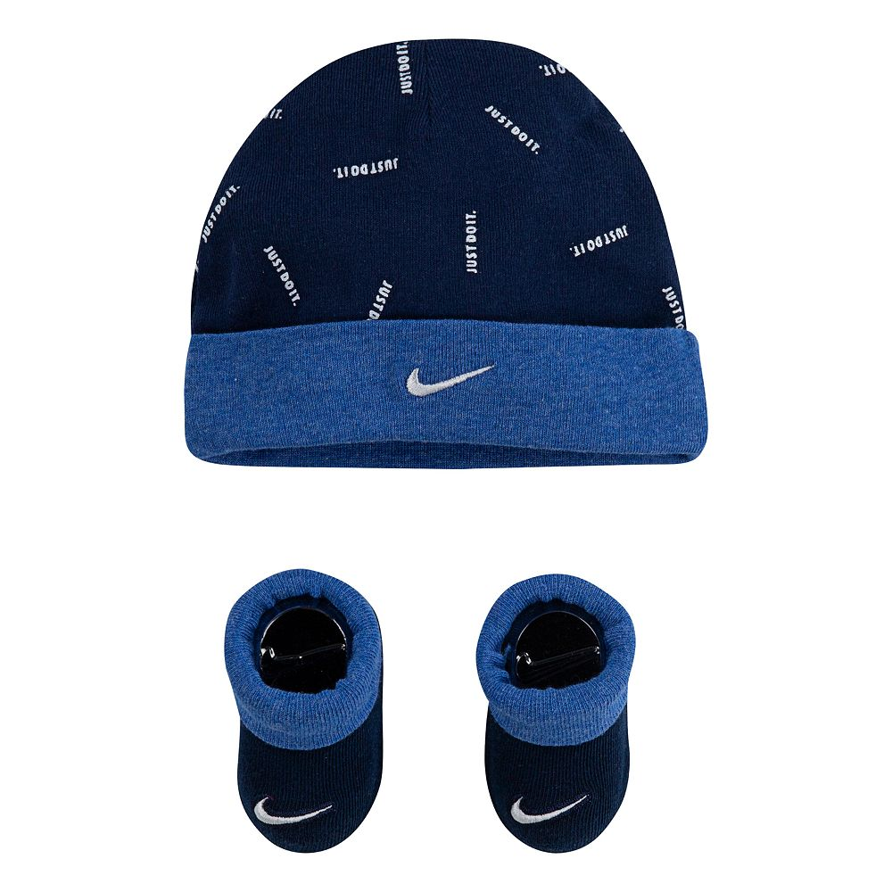 Baby Boy Nike Beanie and Booties 2-Piece Set