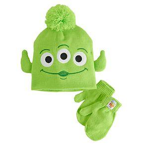 Neutral Disney Toy Story Alien Winter Hat & Mitten Set